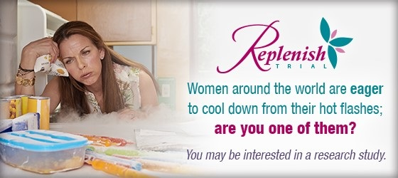 Post image for The Replenish Trial Study for Hot Flashes & Night Sweats!  Last Call!