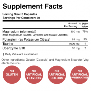 Heart Calm Supplement Facts